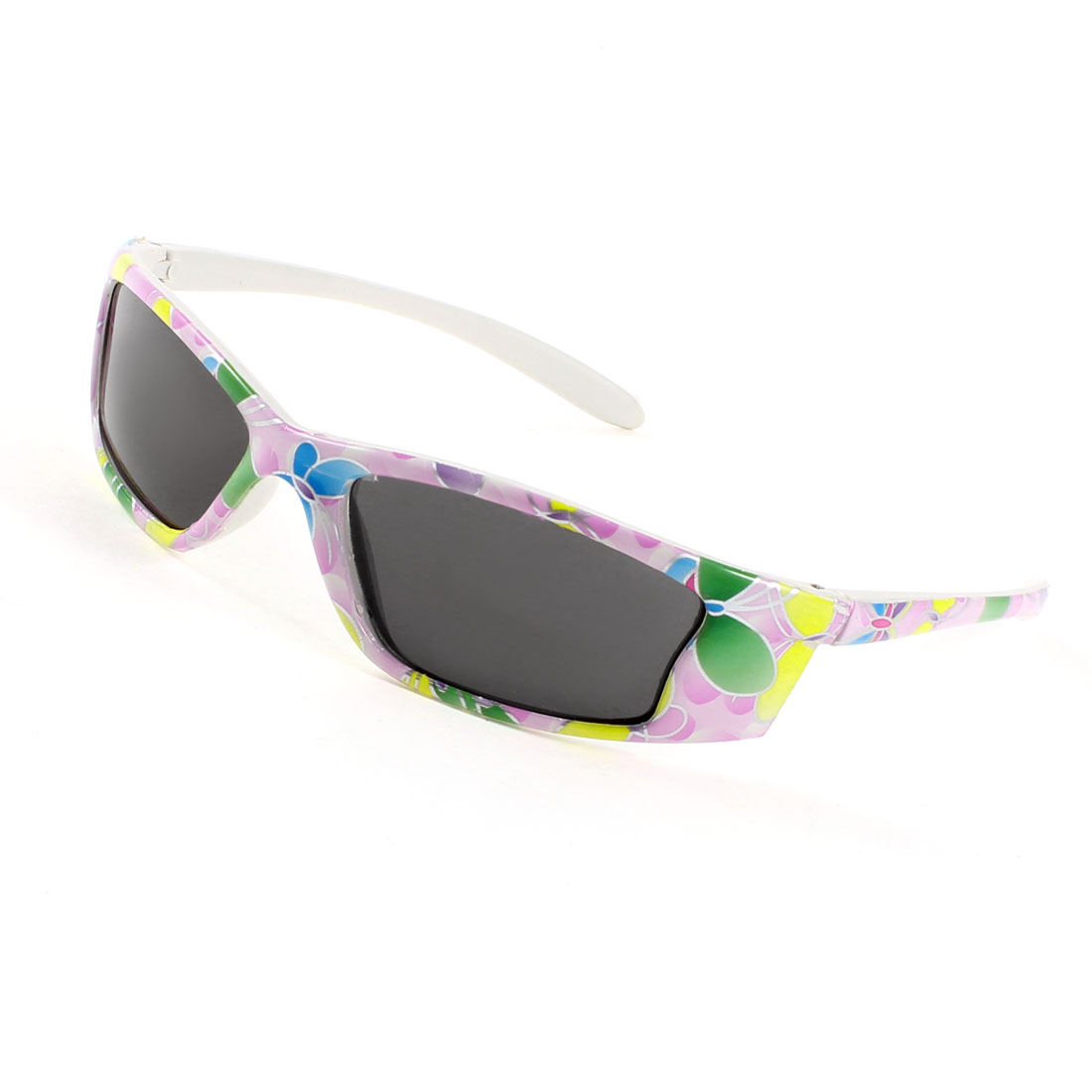 Colorful Plastic Single Bridge Full Rim Rectangle Lens Sunglasses for Children
