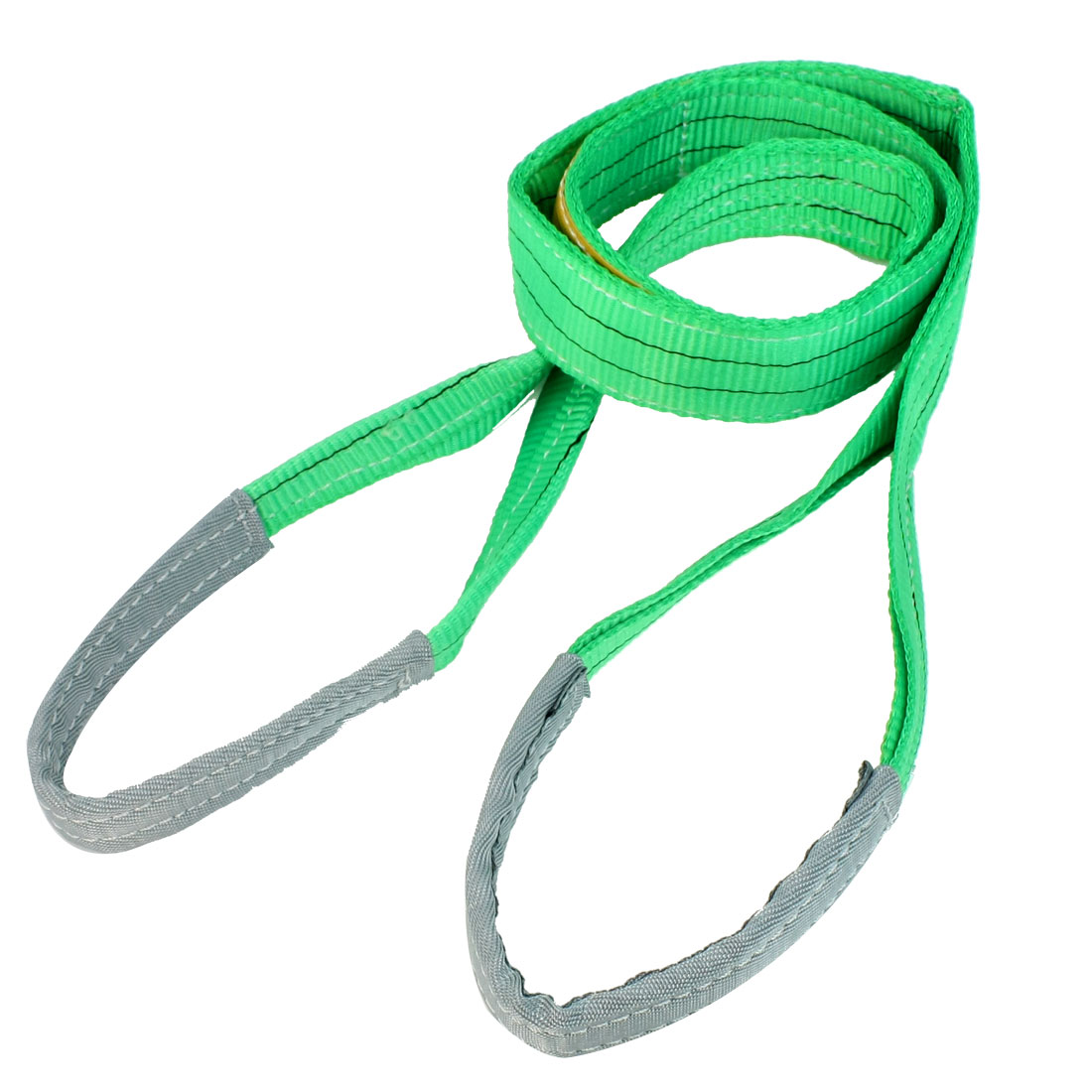 2M Length 50mm Width Eye to Eye Nylon Web Lifting Tow Strap Green