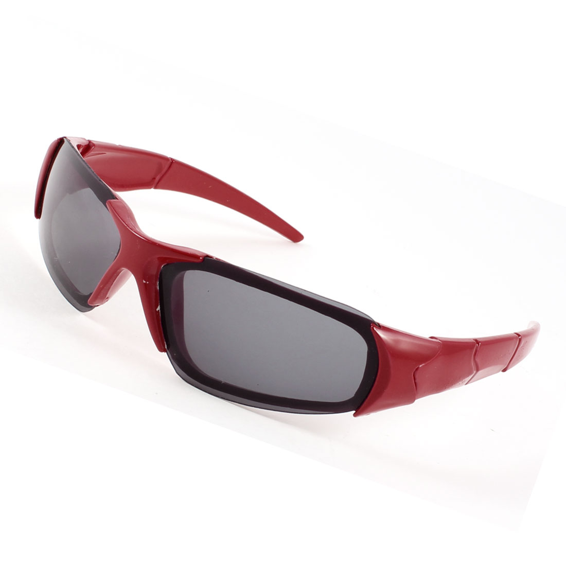 Red Plastic Single Bridge Full Rim Rectangle Lens Sunglasses for Child
