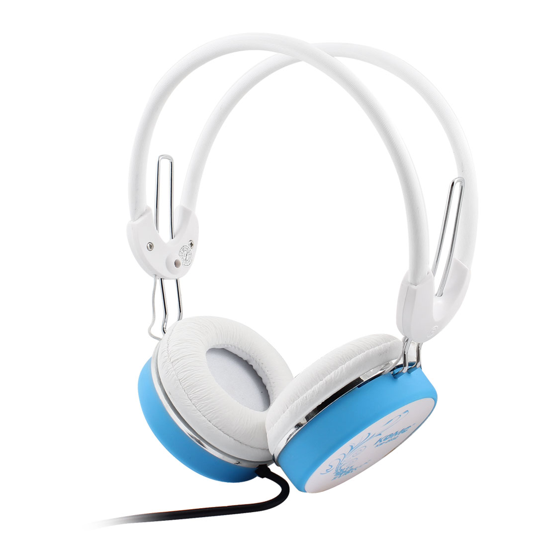 White Sky Blue 3.5mm Stereo Bass Headset Headphone Handsfree w Mic for Laptop PC