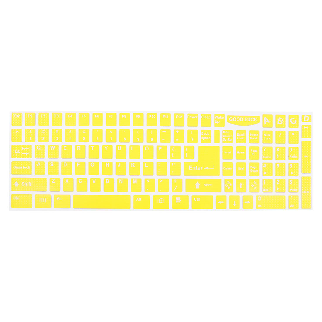 White English Letters Arabic Keyboard Sticker Decal Yellow for Laptop PC
