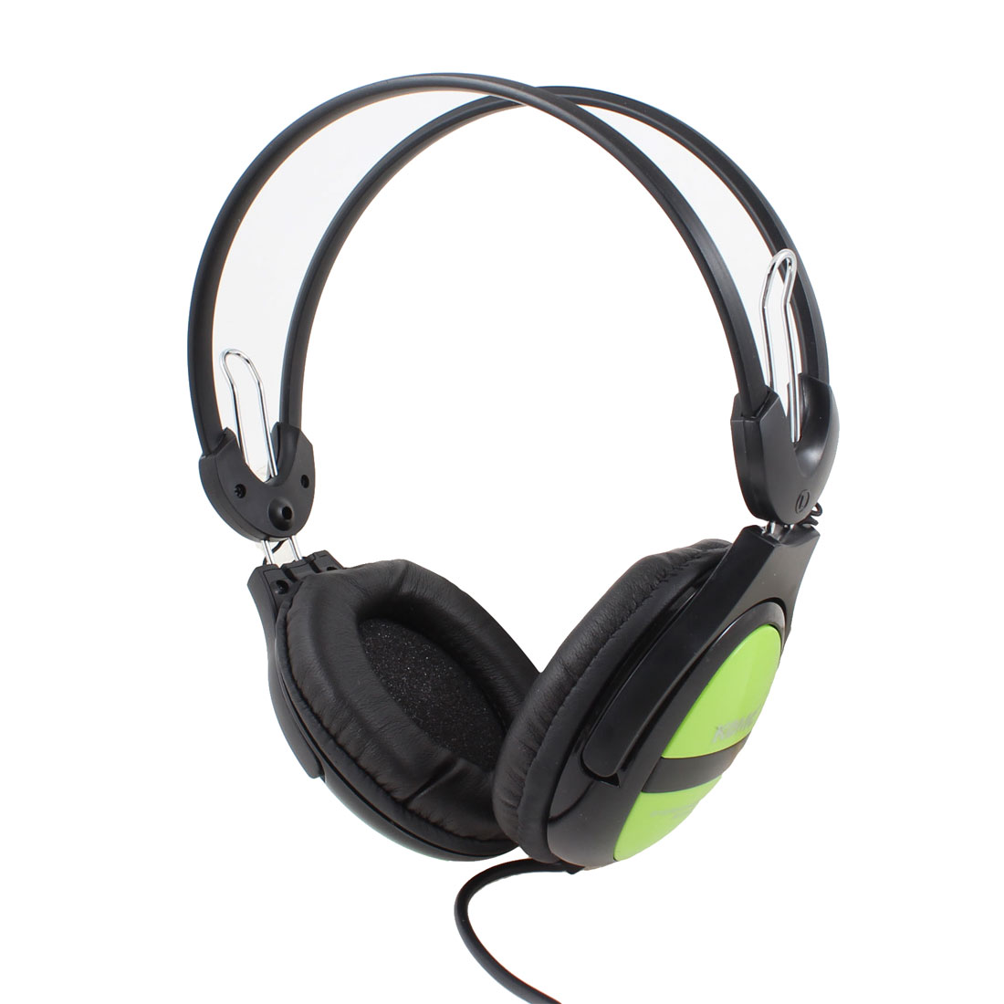 Black Green 3.5mm Connector Stereo Bass Headset Headphone w Inline Mic for Laptop PC