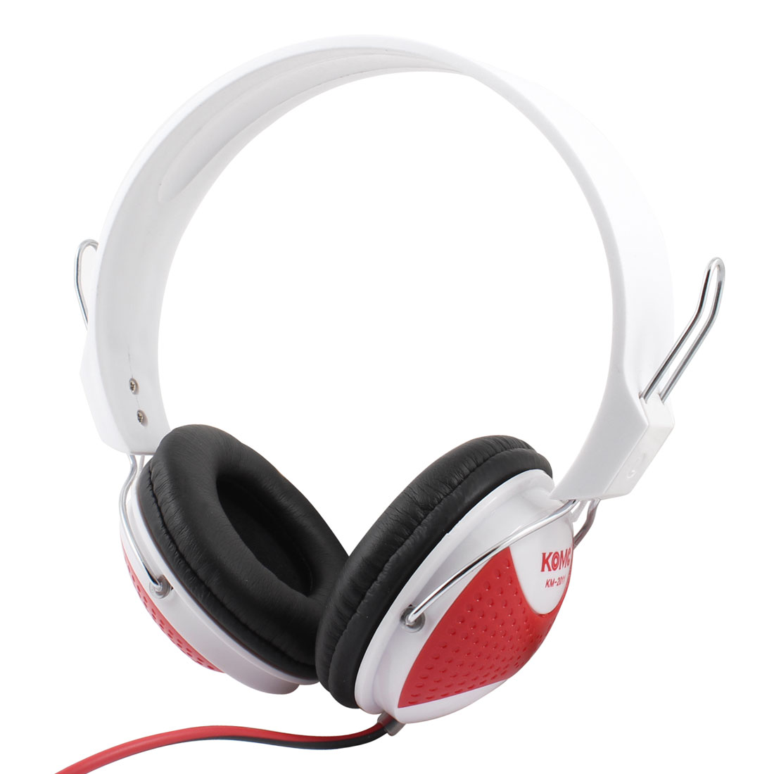Black Red White 3.5mm Stereo Bass Headset Headphone Handsfree w Mic for Laptop PC