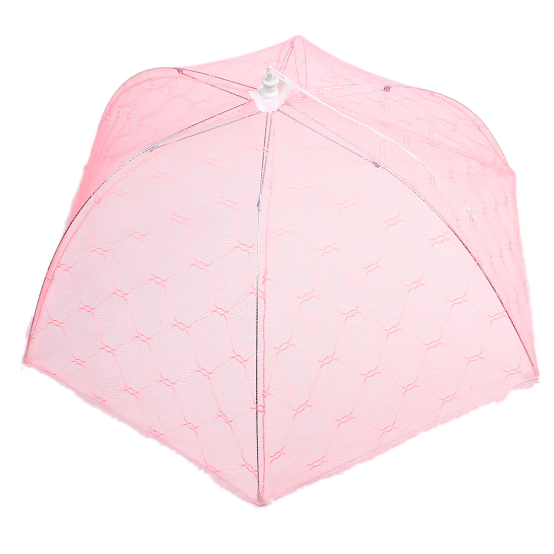 Picnic Camping Foldable Pink White Food Cover Umbrella Tent