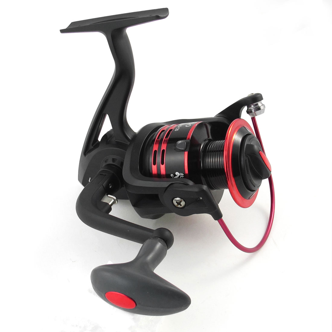 Folding Grip 4.7:1 Gear Ratio 11 Ball Bearing Fishing Spinning Reel Red Black