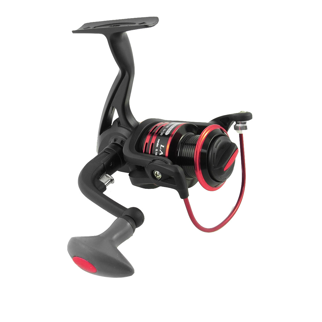 Red Black 5.0:1 Gear Ratio 11 Ball Bearings Folding Fishing Spinning Reel