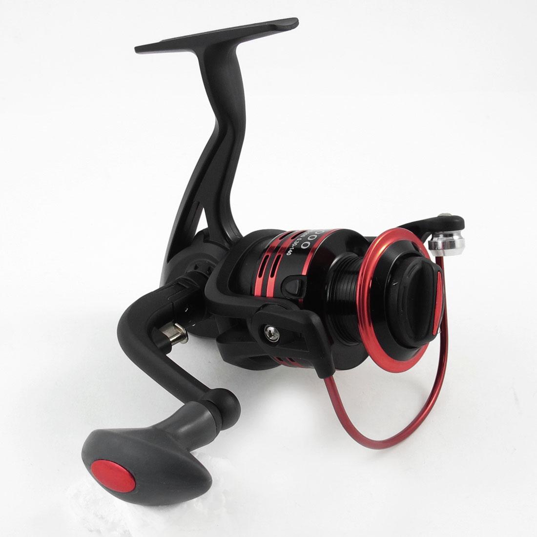 Folding Grip 5.0:1 Gear Ratio 11 Ball Bearing Fishing Spinning Reel Red Black