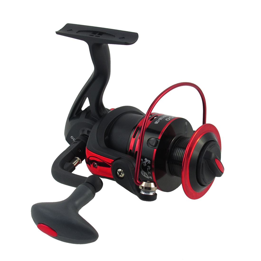 4.7:1 Gear Ratio 11 Ball Bearing Red Black Folding Fishing Spinning Reel
