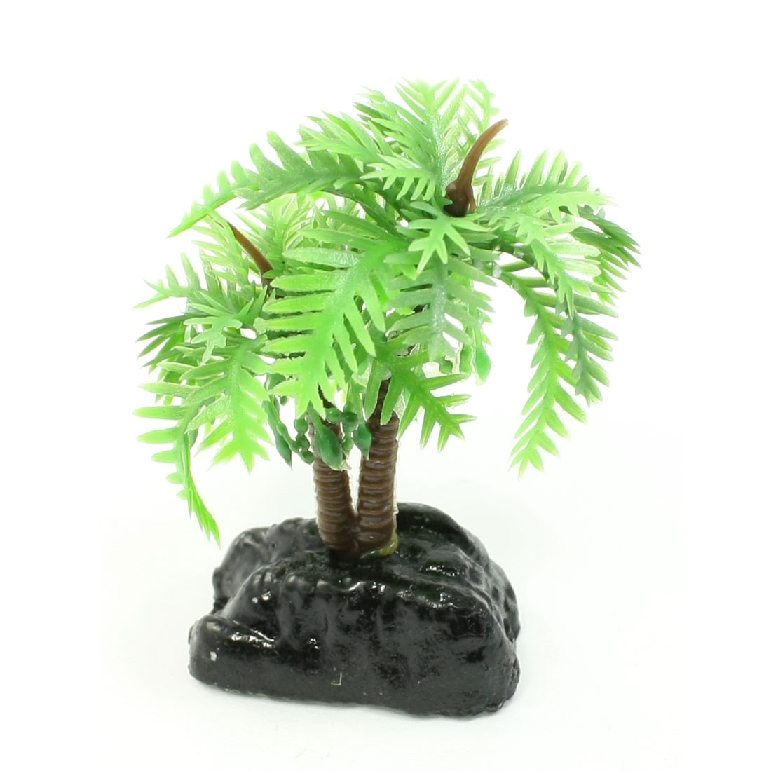 "Aquarium Underwater Aquascaping Coco Shape Plants Green Black 2.4"" High"