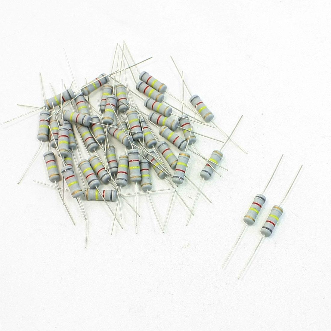 40 Pcs Electirc Components Fixed Carbon Film Resistors 820K Ohm 2W