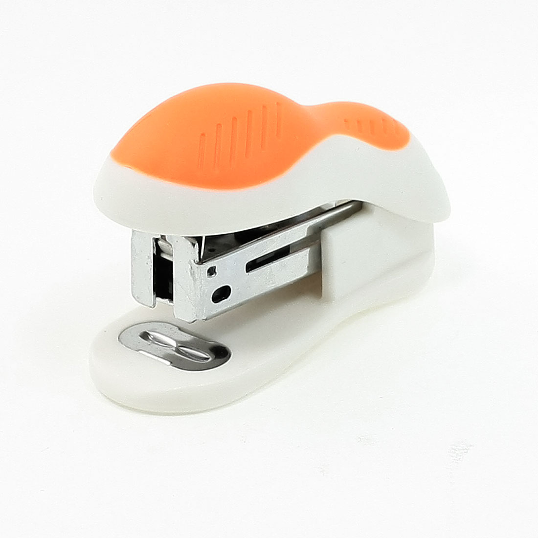 Orange White Plastic Shell Book Paper Tacking 24/6 26/6 Press Type Stapler