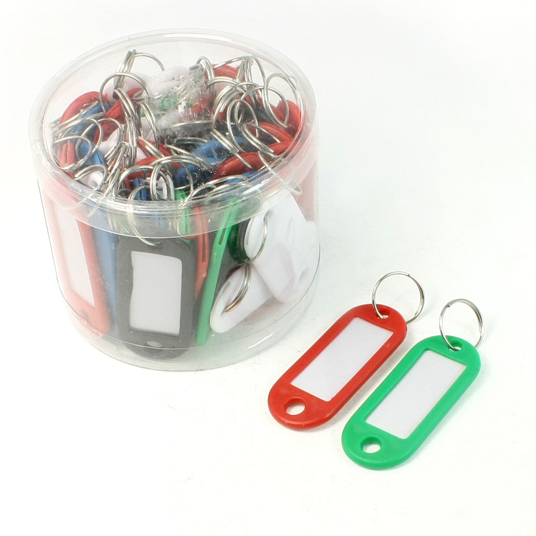 Company Multi Color Plastic Key ID Label Name Card Split Keyring 50 Pcs