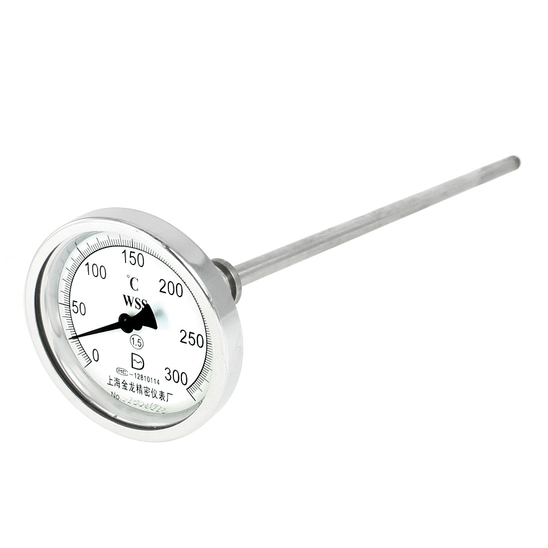 "3/4""PT Thread Diameter 0 to 300 Celsius Gauge Range Deep Fry Thermometer"