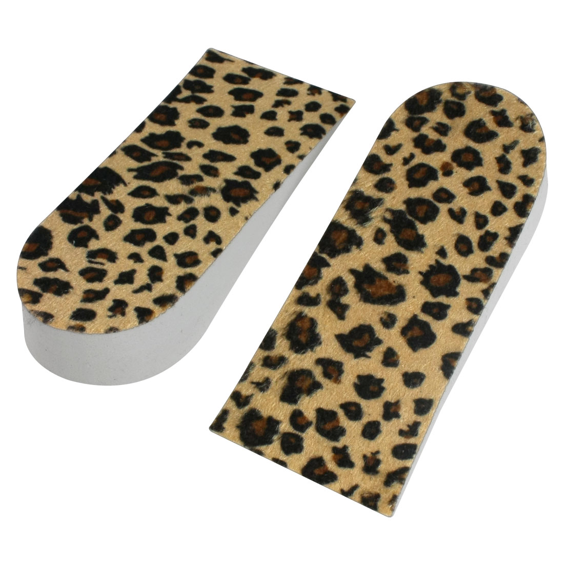 Leopard Print 2.5cm High Increase Insoles Heel Lift Shoes Pads Pair Colorful