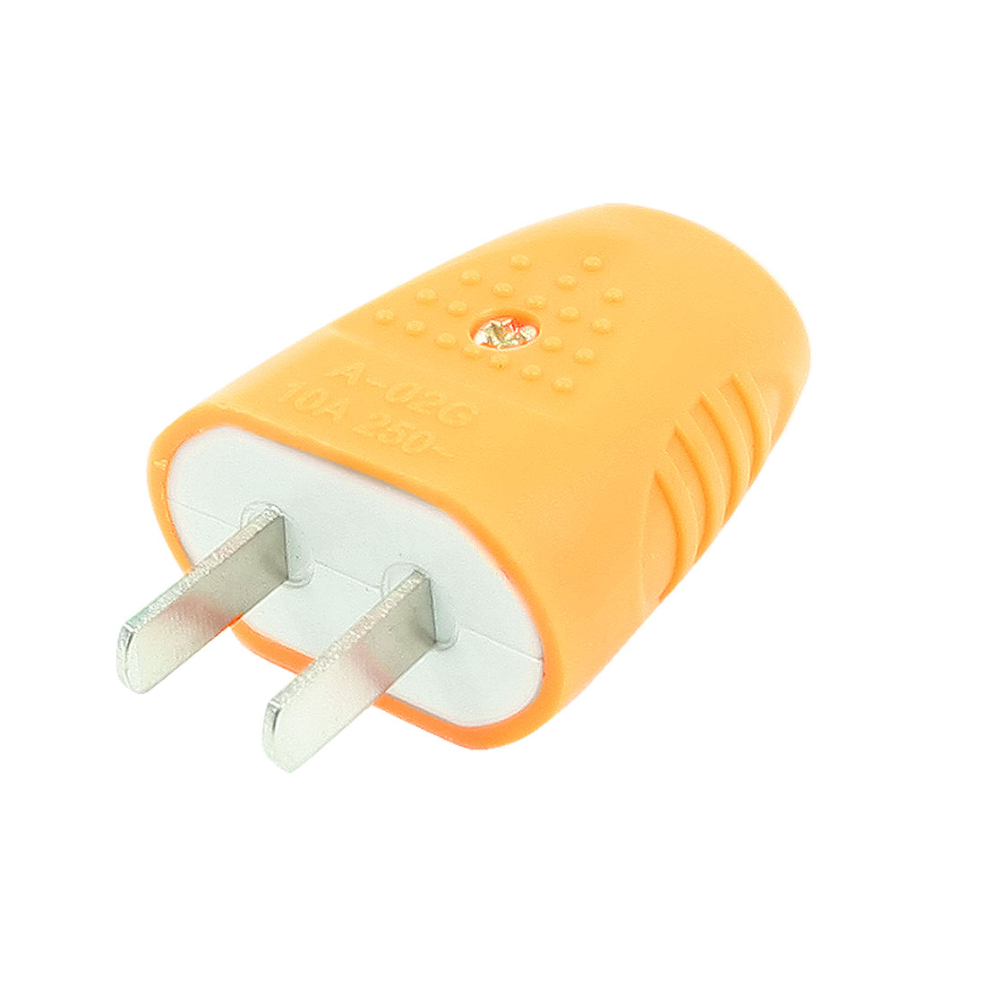 AC 250V 10A 7.4mm Dia Wire Hole 2 Flat Pin AU US Plug Orange Power Adapter