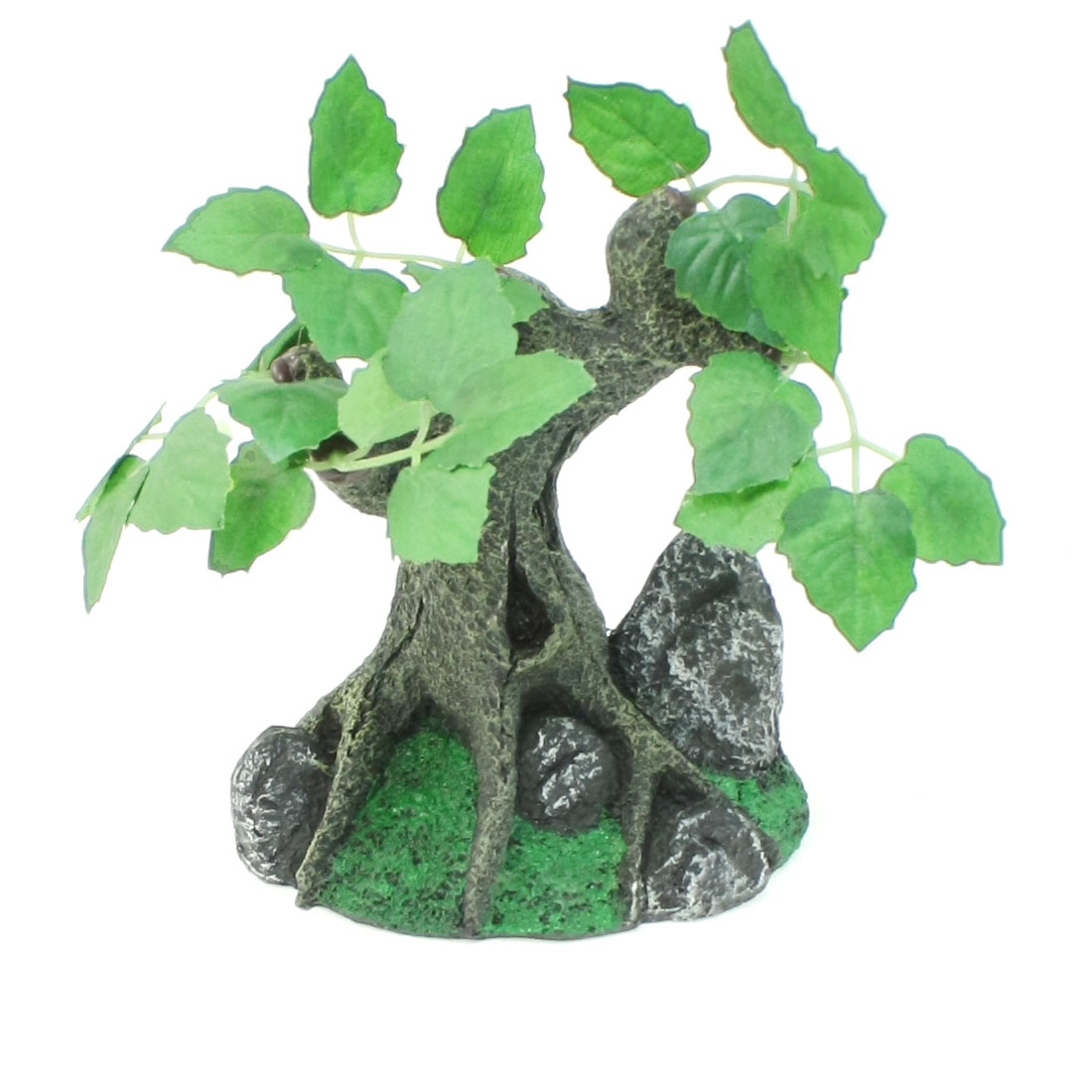 "5.1"" High Burgundy Leaves Gray Trunk Aquascaping Tree for Aqurium"