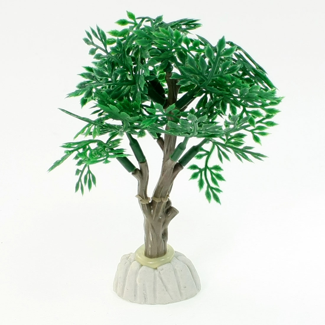 "4.1"" Height Emulational Green Gray Plastic Tree Shape Water Plants for Fish Tank"