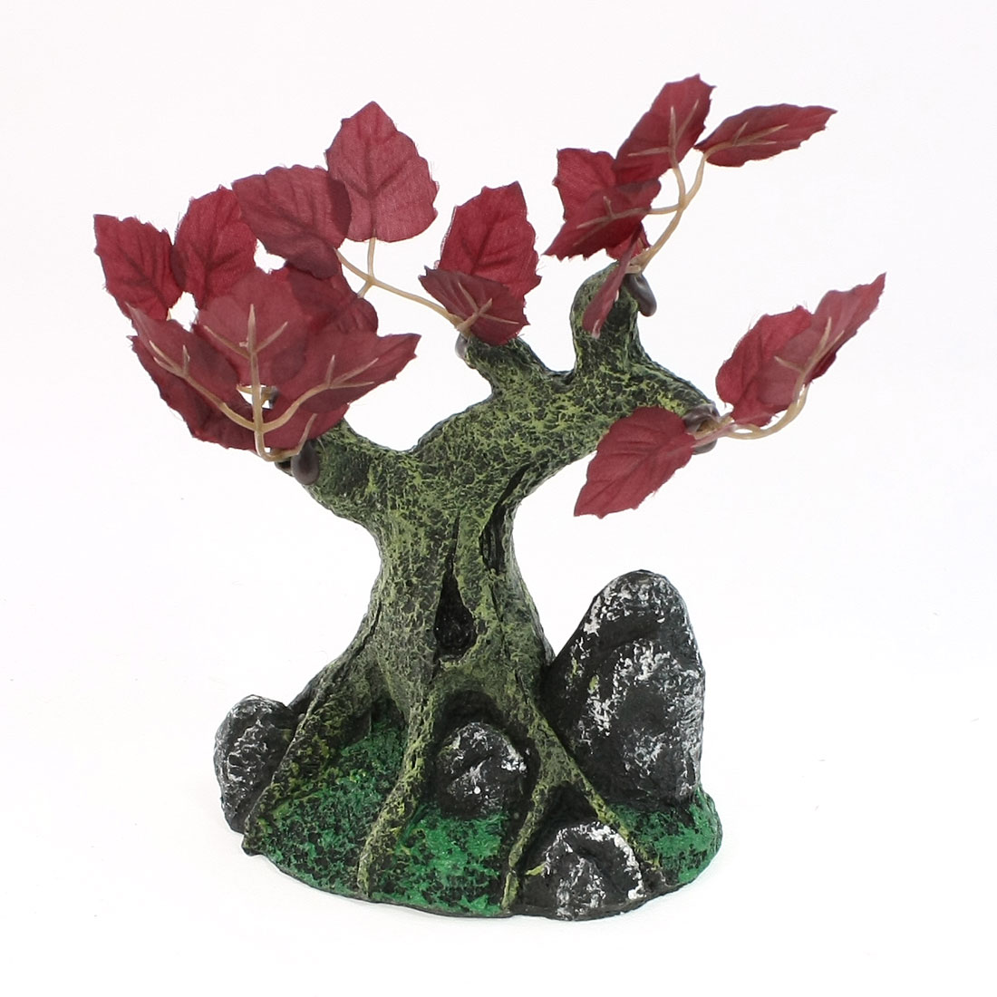 Fish Tank Aquascaping Green Leaves Tree Shape Decoration 13cm Height