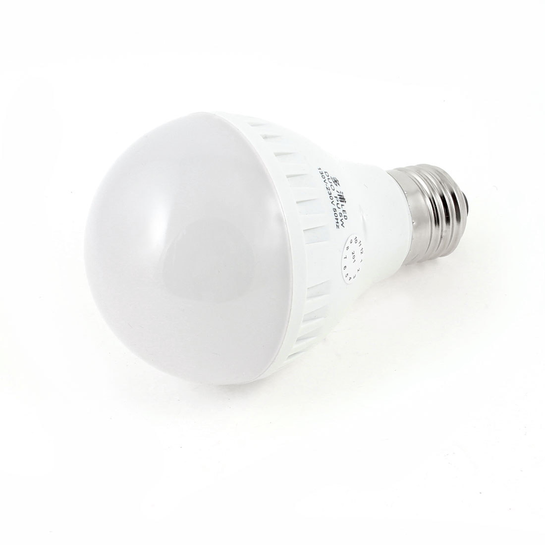 5W E27 Ball Bulb Ceiling White Lamp LED Energy Saving Light AC 130-230V