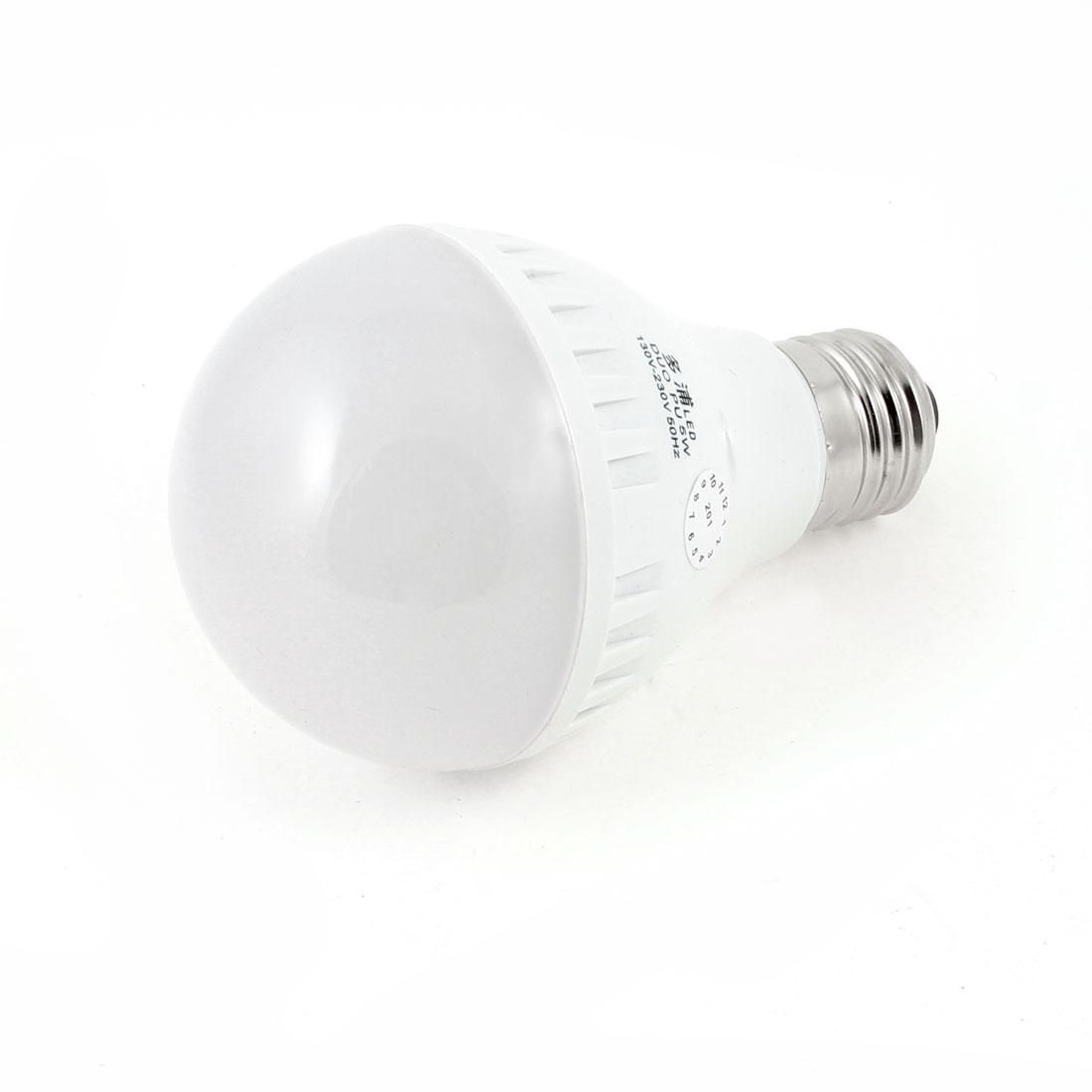 5W E27 Ball Bulb Ceiling White Lamp LED Energy Saving Light AC 130-230V
