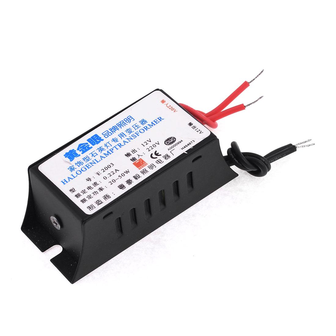 AC 12V 20-50W Output 220VAC Input Converter Electronic Transformer