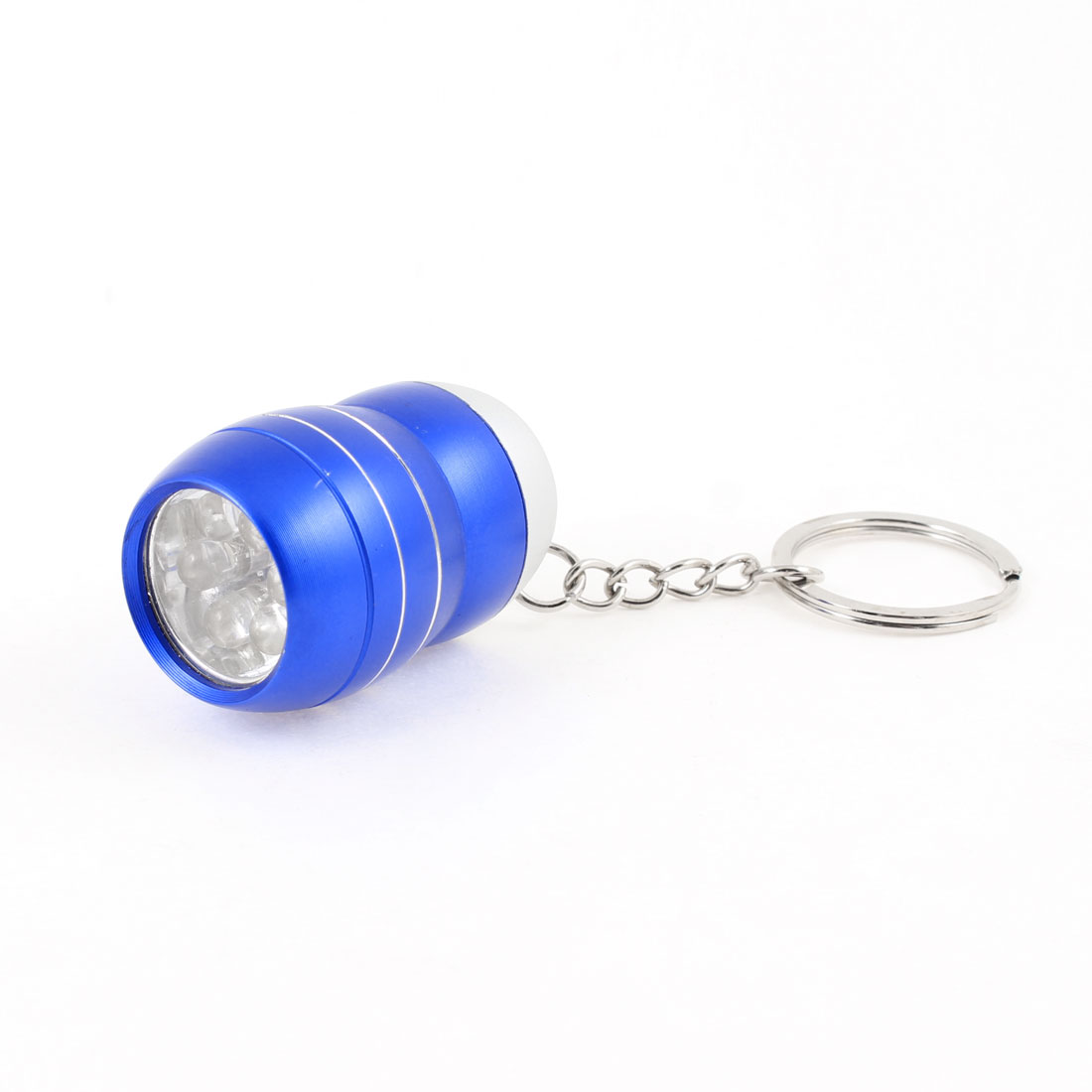 Blue Alloy Shell White Light 6 LEDs Mini Flashlight Torch