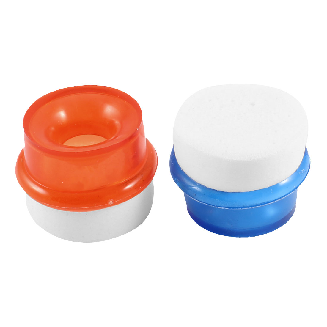 Pair Household Soft Plastic Water Tap Purifier Filter Blue Orange