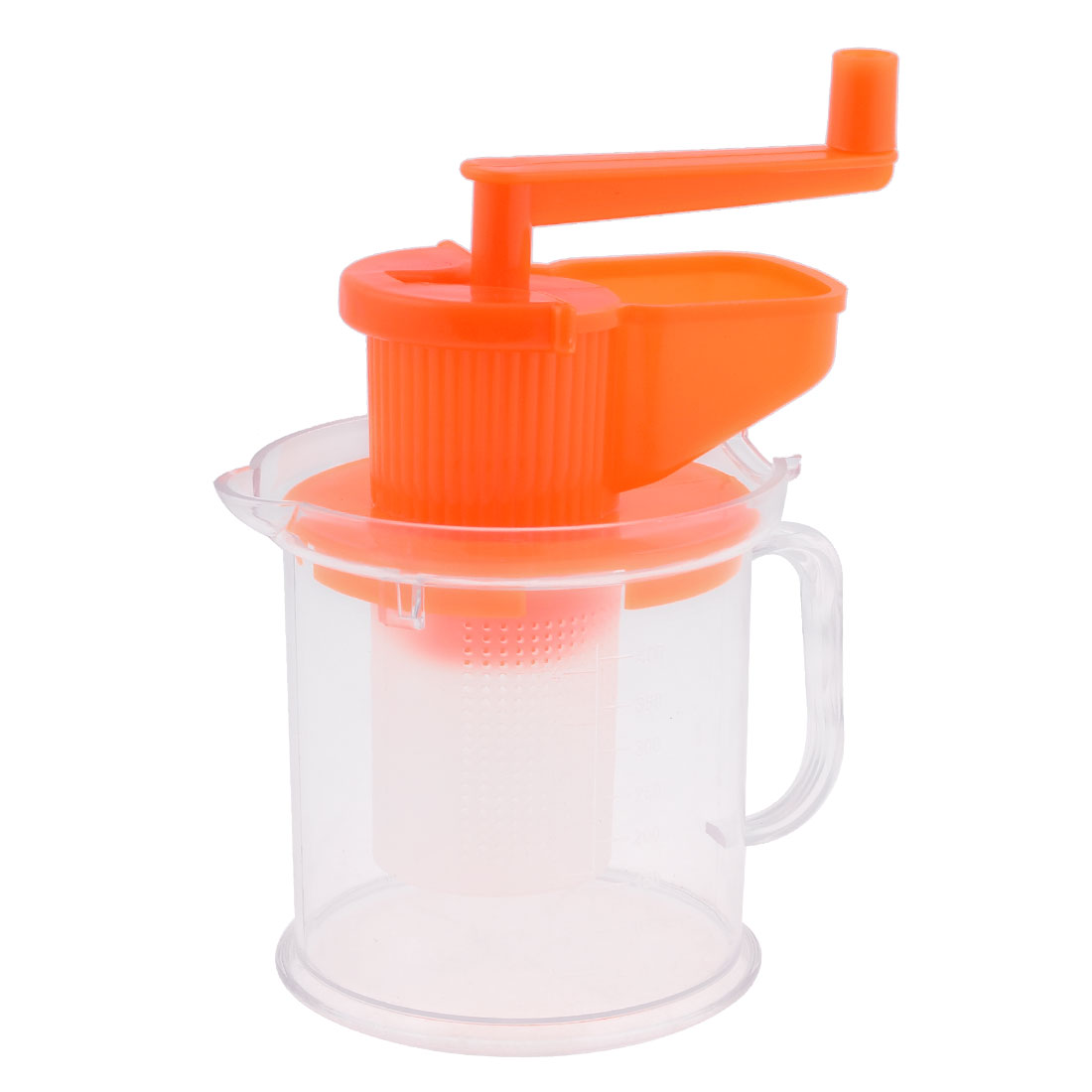 Kitchen Home Portable Orange Handle Clear Column Plastic Soybeans Grinder