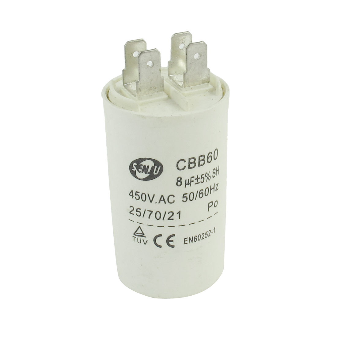 Air Conditioner AC 450V 8uF Cylindrical Motor Capacitor CBB60