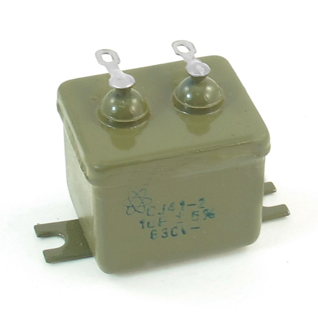 "CJ41-2 1UF/630V 5% Metalized Paper in Oil Capacitor 1.1"" x 1""x 1.2"""