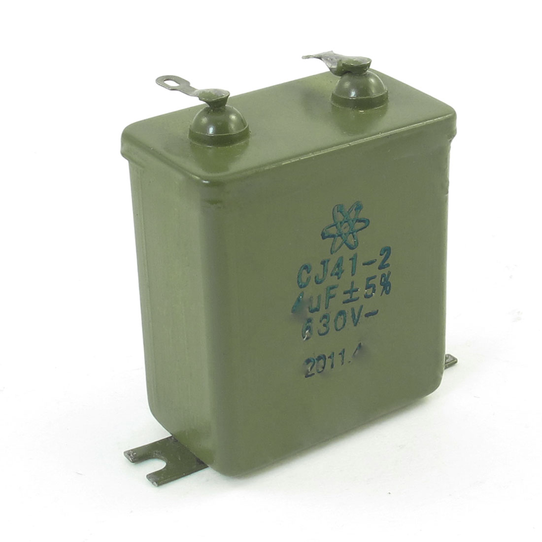 Rectangle Metalized Paper Capacitor Audio Filter CJ41-2 4uF 630V 5%
