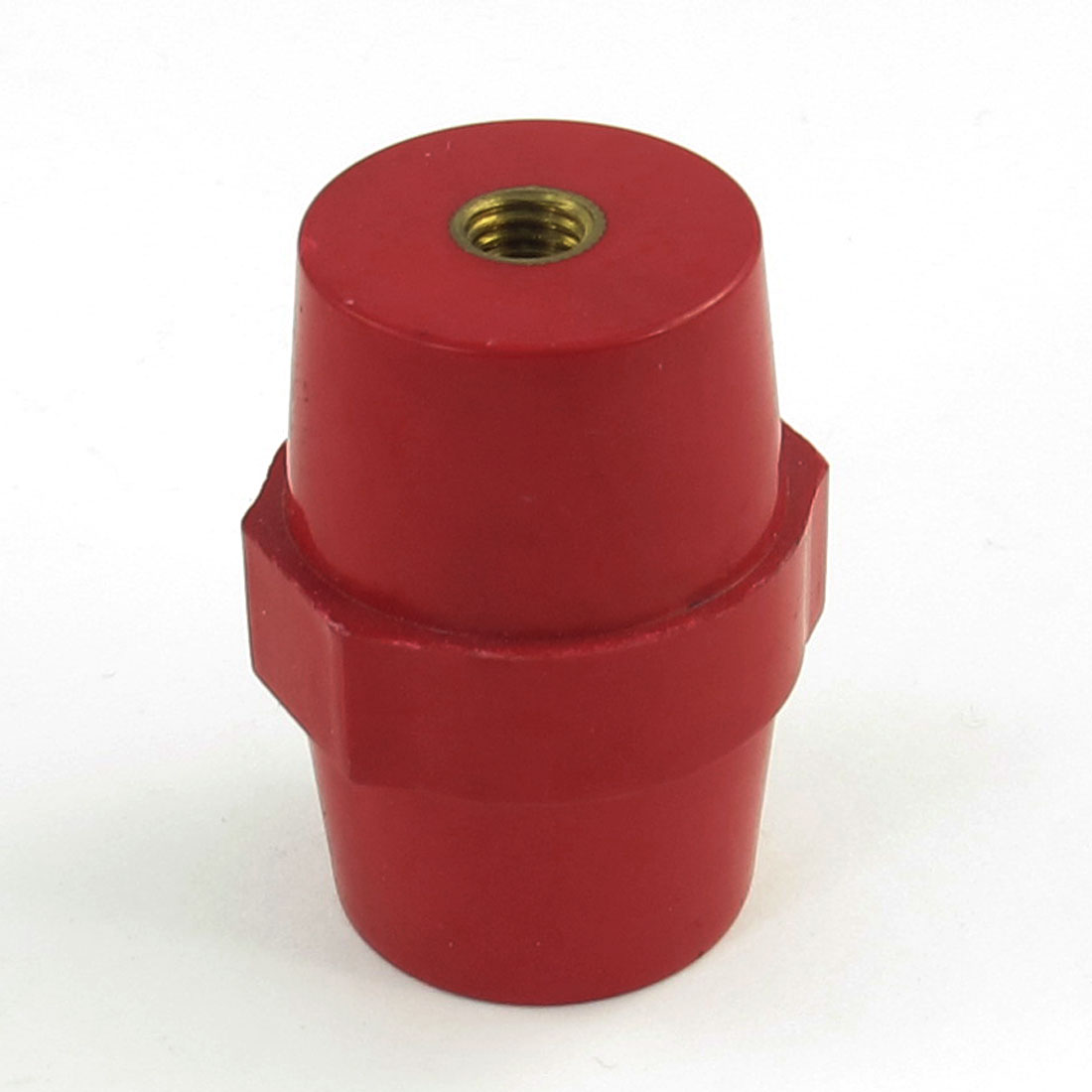 "0.27"" Brass Thread 2"" Height Busbar Enhanced Insulator Supporter Red"