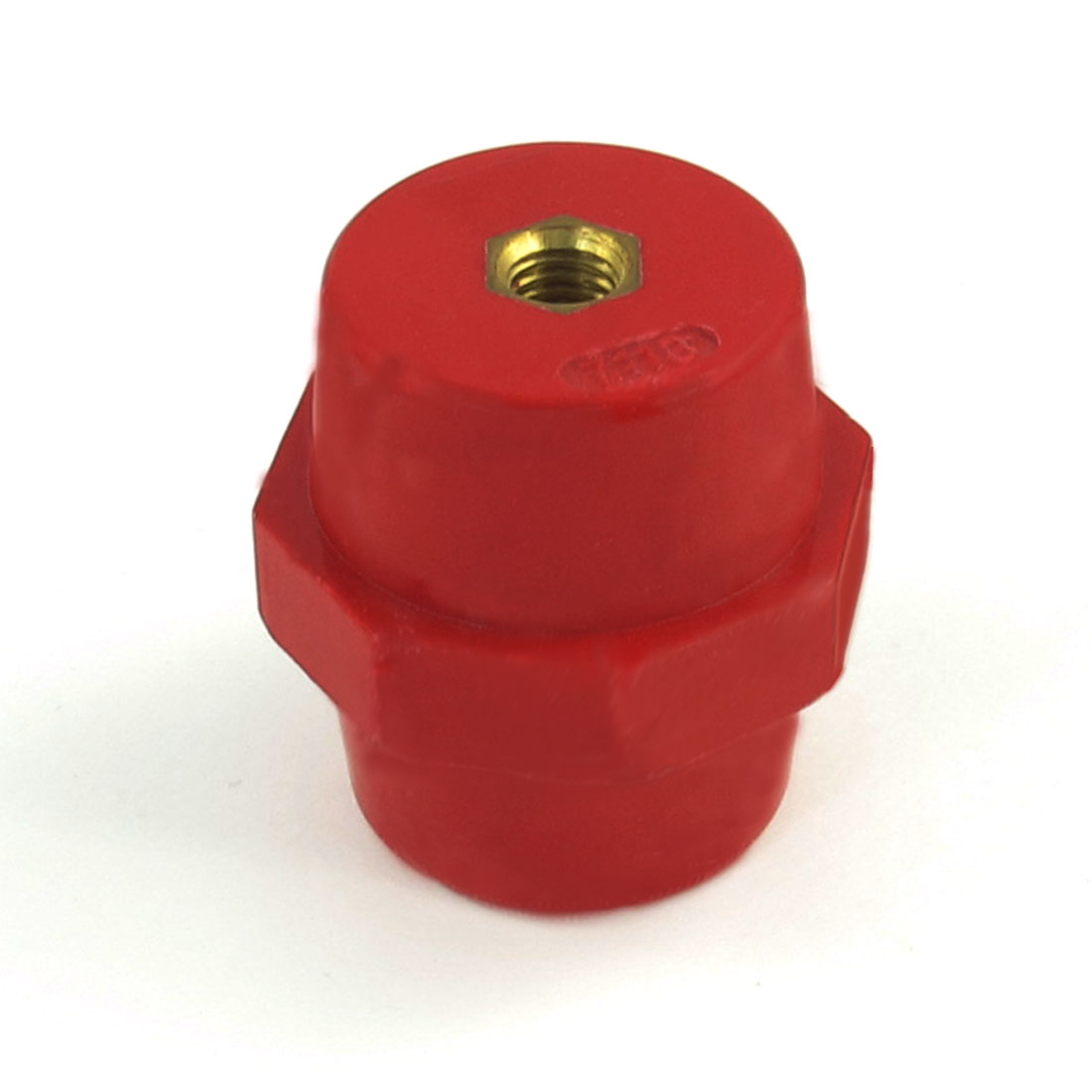 "0.28"" Brass Thread Red Busbar Support Enhanced Insulator Connector SM7110"