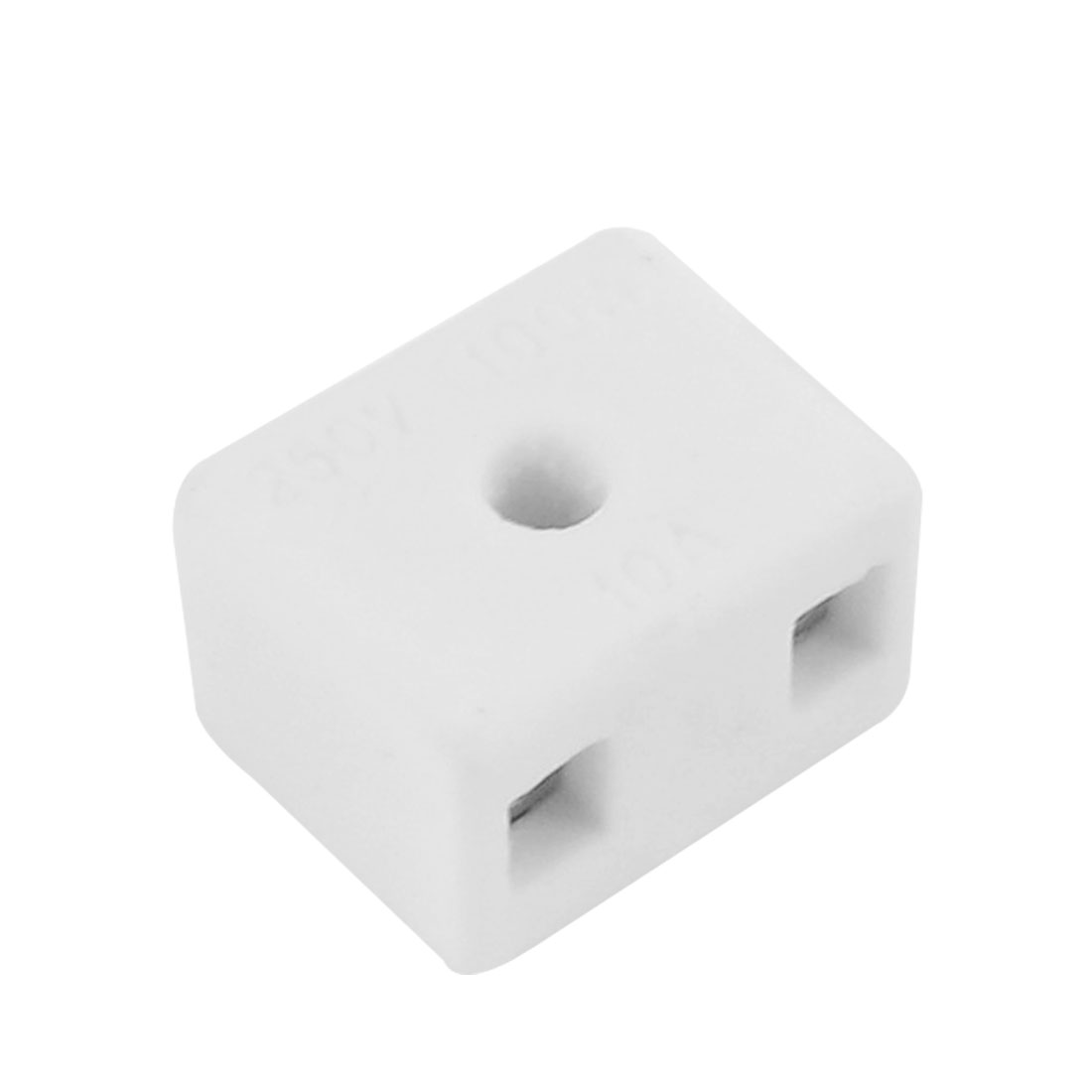 Wire Connector 2 Position Dual Row Ceramic Terminal Block 250V 100W 10A