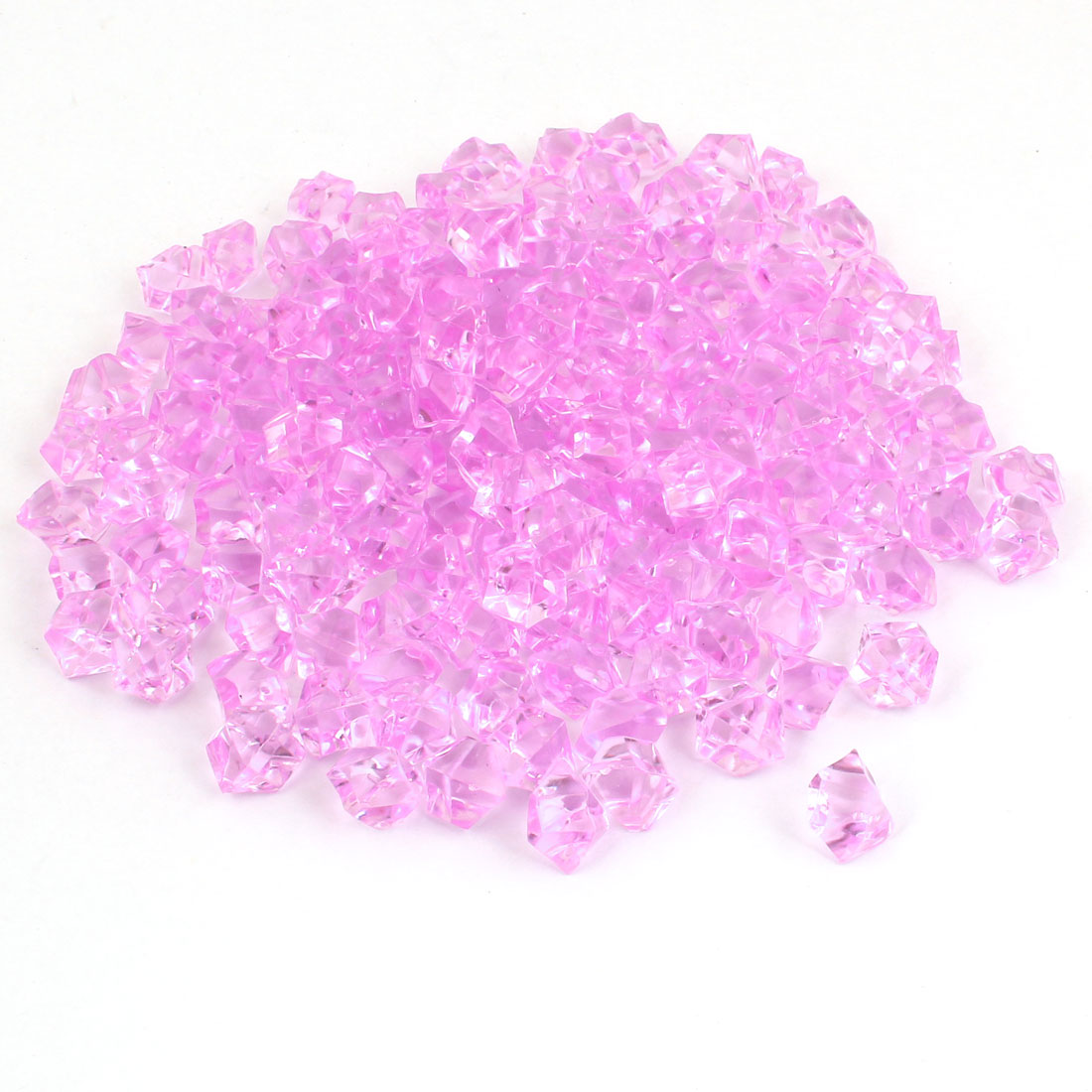 150 Pcs Plastic Crystal Stones Ornament Light Purple for Aquarium