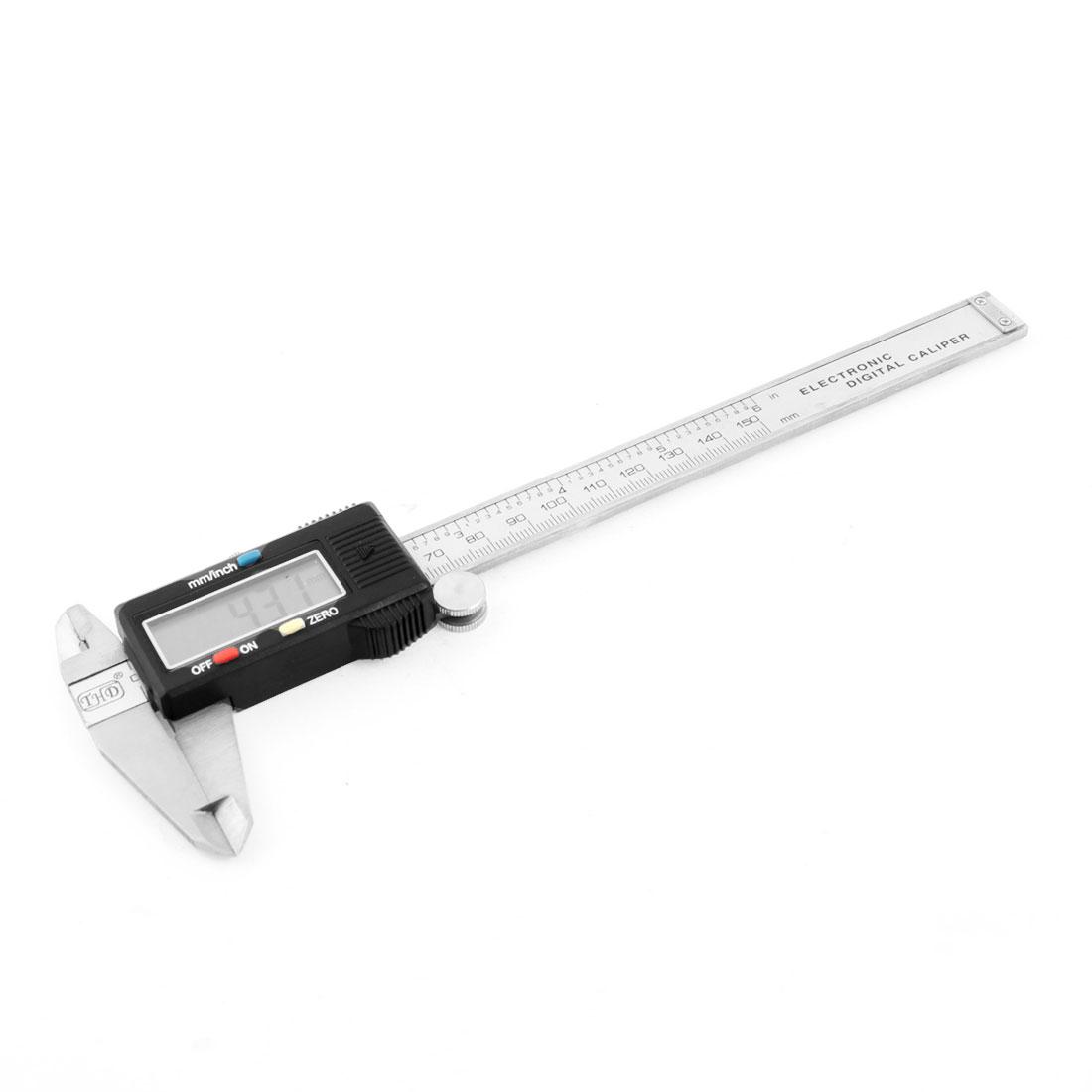 "0-150mm 6"" Range Digital Vernier Caliper Micrometer Guage w Case"