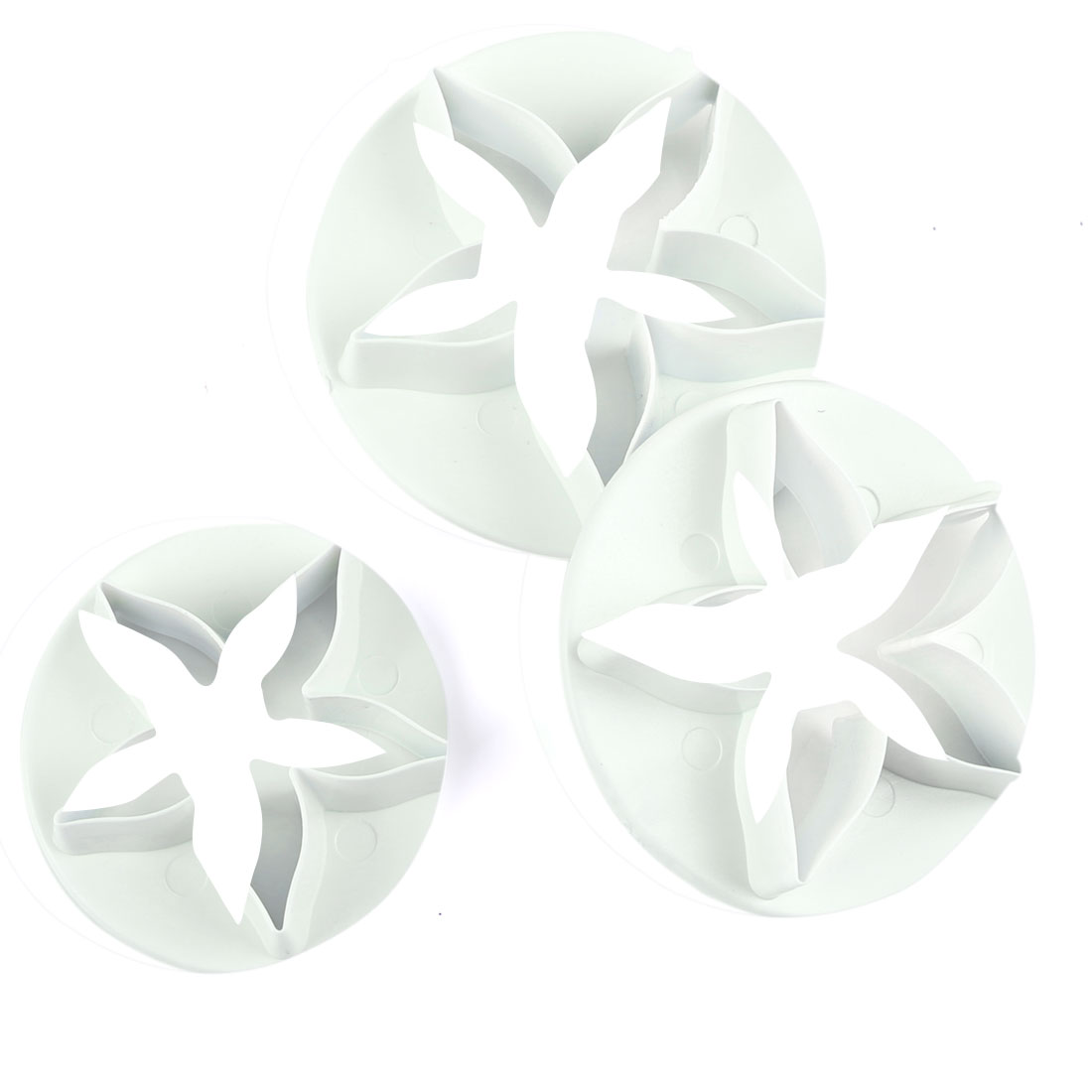 3PCS White Star Shape Cake Decorating Molds Calyx Flower Cutters DIY Tool