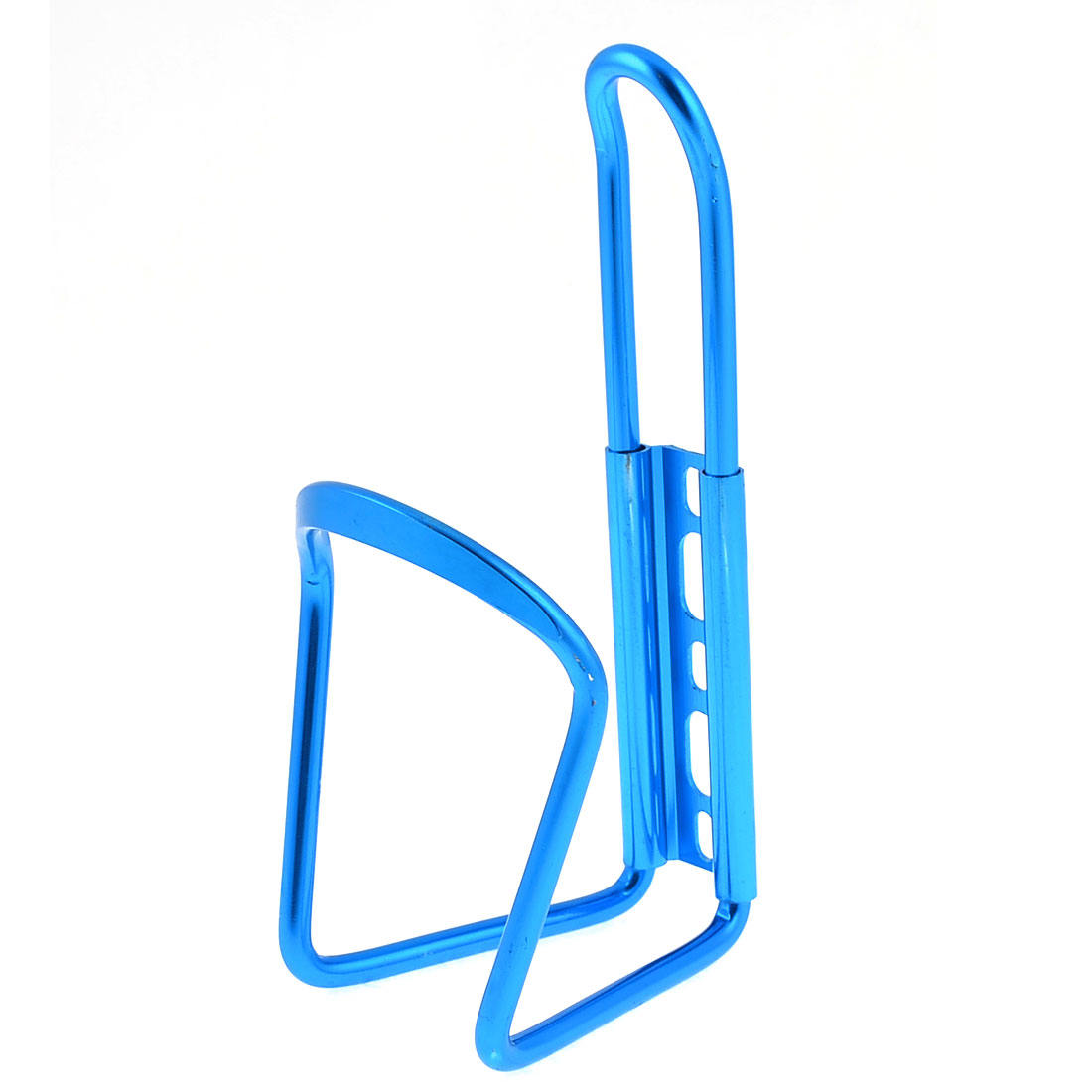 Outdoor Cycling Bike Light Blue Aluminum Alloy Water Bottle Holder Cage