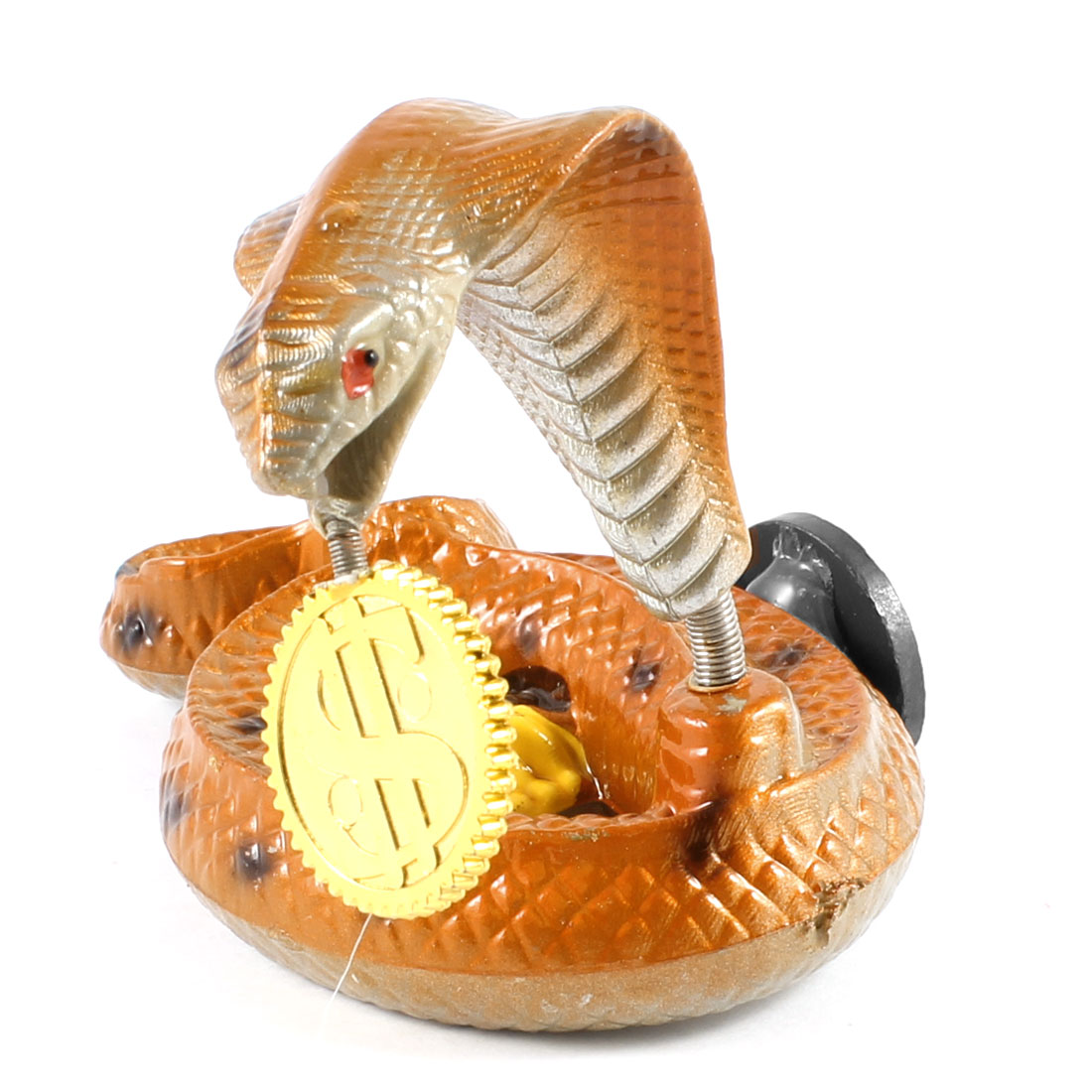 Orange Plastic Cobra Snake Magnetic Sticker Ornament for Fridge