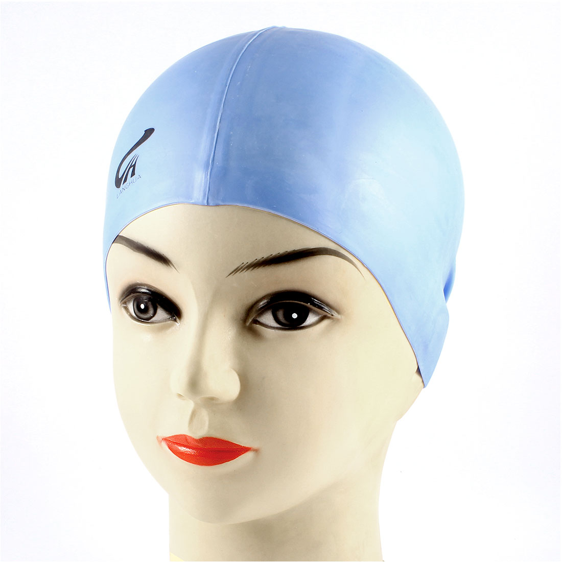 Adults Soft Silicone Dome Shape Elastic Swimming Cap Blue