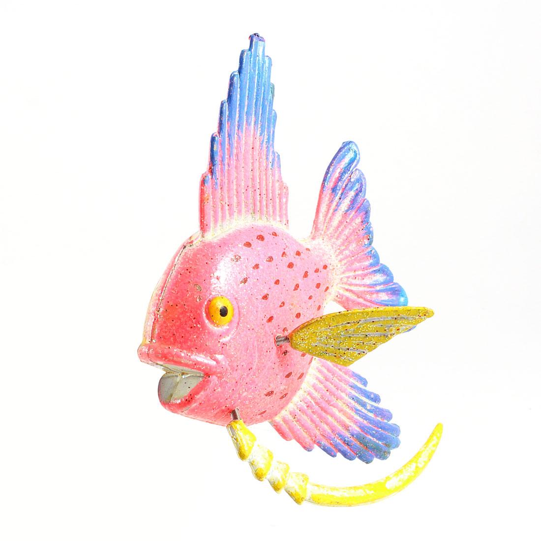 Home Pink Plastic Fish Refrigerator Fridge Magnetic Sticker