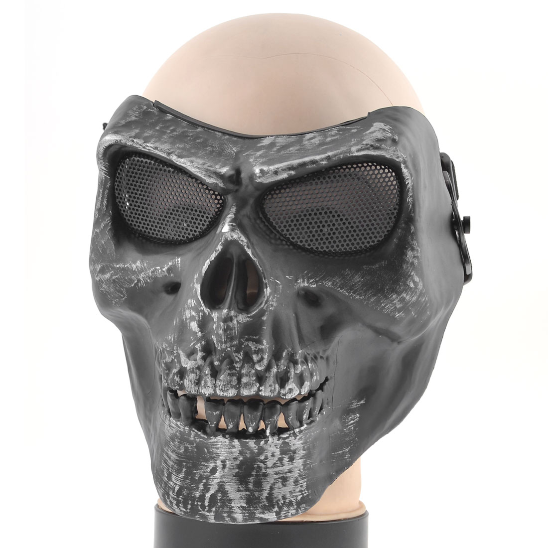 Masquerade Party Skull Facial Plastic Wargame Fighter Mask for Adults