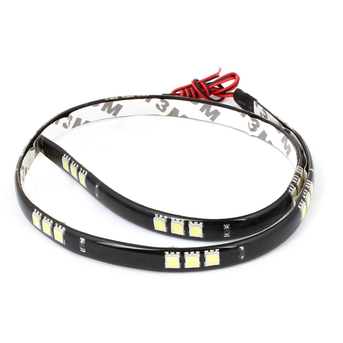 White 30 LED 5050 SMD Adhesive Car Truck Flexible Waterproof Light Strip 60CM