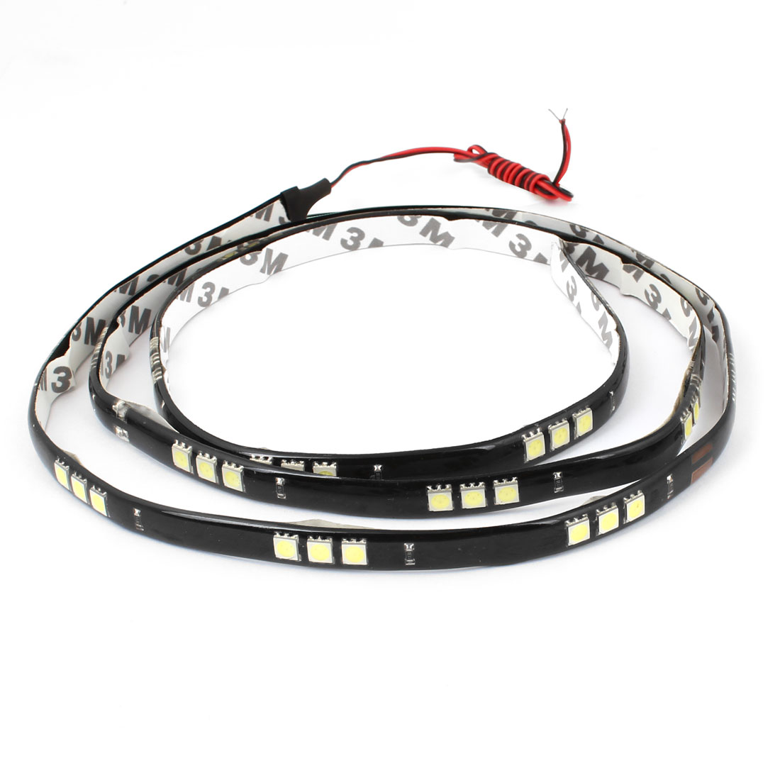 Car DC 12V Interior White 5050 SMD 60 LED Flexible Strip Light Lamp 120cm Long
