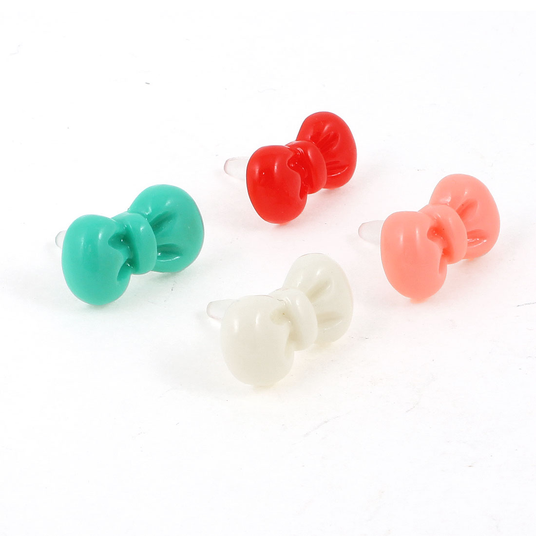 4 Pcs Assorted Color Bowknot Shape 3.5mm Ear Cap Dust Plug for Cell Phone