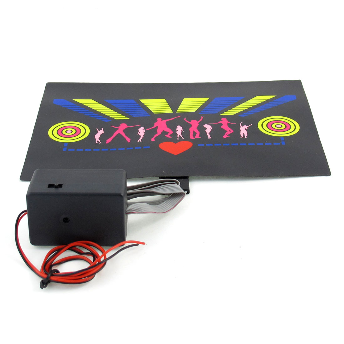 Music Sound Activated Flash Light Car Side Rear Window Sticker DC 12V