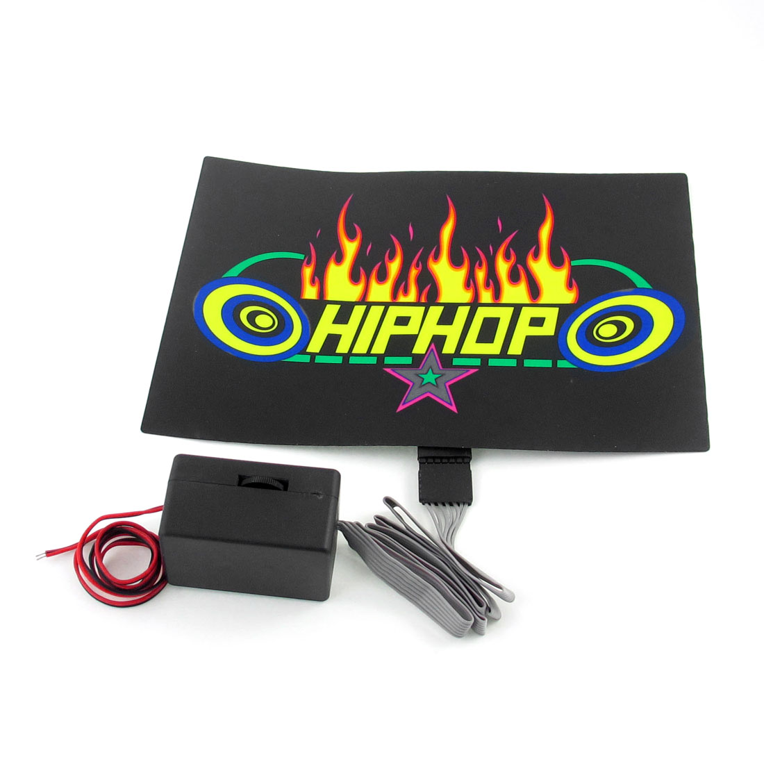 Car Windshield Flame Pattern Sound Music Controlled Flash Light Sticker