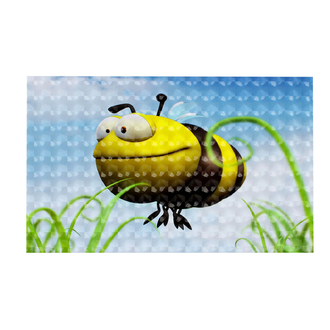 "Yellow Black Cartoon Bee 3D Decorative Sticker Decal for 15"" 15.4"" Laptop PC"