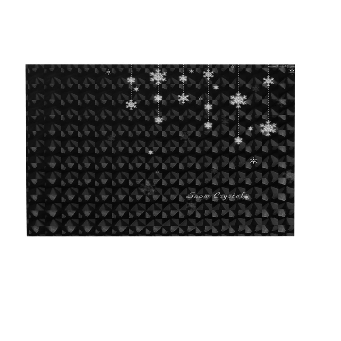 "White Snowflake Pattern Black 3D Sticker Decal Cover for 14"" Laptop PC"