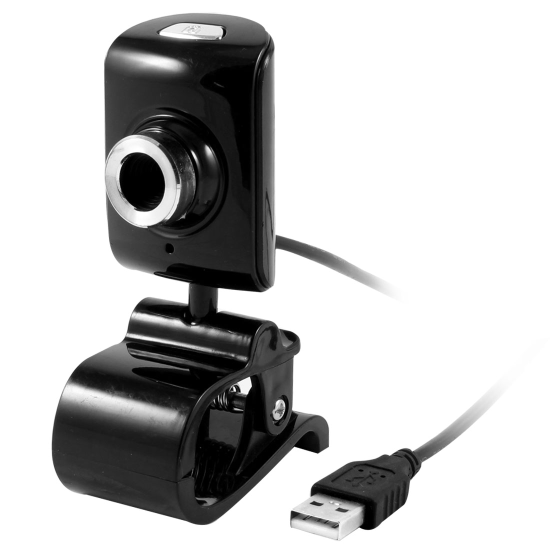 Black Plastic Housing USB 2.0 Clip Web Camera Webcam for Laptop Desktop PC